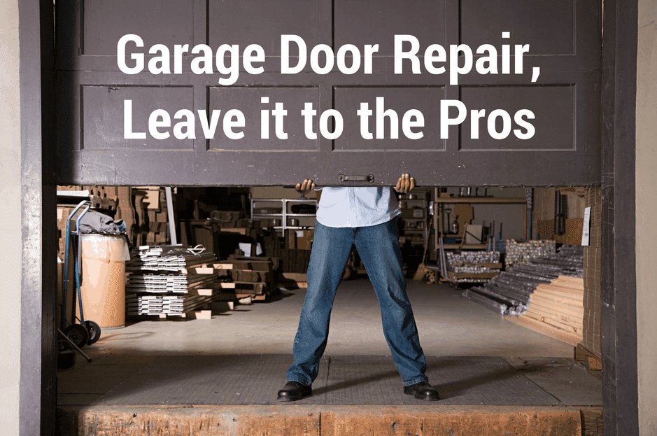 Garage door repair, leave it to the pros